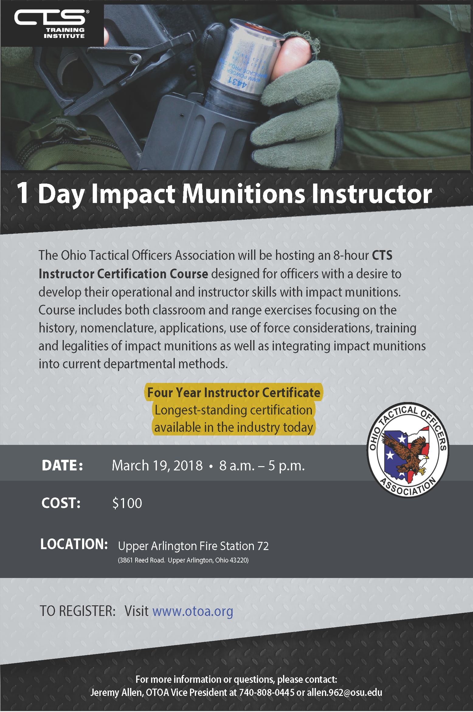 CTS Impact Munitions Instructor 1